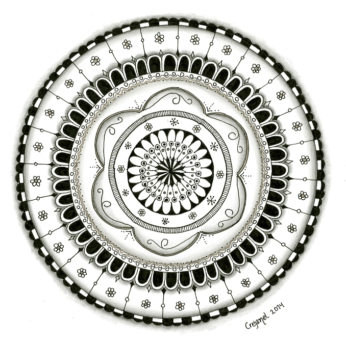 20140527 Zentangle-challenge 169 'Circles' by Janet Plantinga